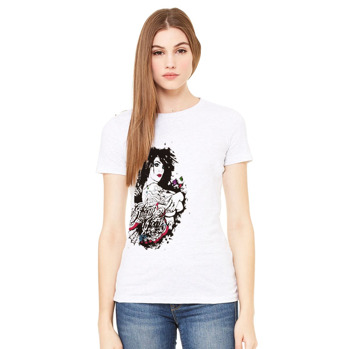 "44437e01a SG ""All Tatted Up Girl"" ladies tee – Shear Gear Online"